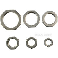 """1/2""""-2"""" Lock Nut Stainless Steel 304 O-Ring Groove Pipe Fitting Lock Nut NPT NEW"""