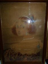 "Franz Angelo Rottonara 1922 Austrian Painting, Signed, ""Noblewoman"", 36.5 x 25cm"