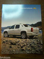 MINT CHEVROLET 2011 CHEVY AVALANCHE 7 PAGE SALES BROCHURE NEW