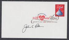 John E. Potter, Postmaster General, signed 39c Love & Kisses FDC