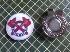 GOLF / Atlanta Braves Logo Golf Ball Marker/with Magnet Hat Clip New!!