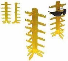 2 New Yellow 6 Pair Sunglass Display Rack holder glasses counter displays racks