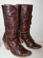 Unknown label mid-calf boots women Eur 36 US 5.5 UK 3.5 USED from Italy #398