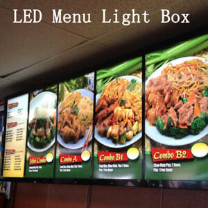 "17""X 24"" A2 LED Illuminated poster frame Restaurant sign menu board"