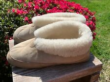 J CREW OUTLET Comfy Fleece Plush Wooly Sheep Full Lined Slippers Men Sz 12 🐾m17
