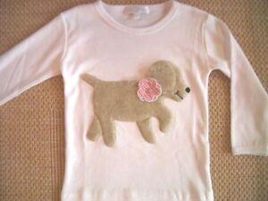 ZIEGFELD Kids Shirt 3 D Hund Kitty mit Blume Langarm Gr. 86 - 128 NEU