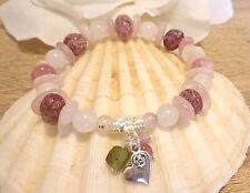 Higher Love Natural Lepidocrocite Morganite Tourmaline Sacred Super 7  Bracelet