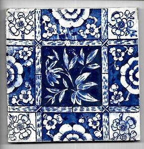 Edwardian Blue and White Tile C1910