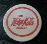 COCA-COLA Original Wooden Nickel - Drink Coke (Hawaiian) / K. Young 1989 - RARE