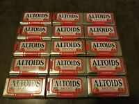 15 Empty Altoids Metal Tins Red Strawberry Arctic Cool Mints - FREE SHIPPING U.S