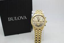 Bulova Mens Quartz Diamond Accent Hour Marker Champagne Dial 40mm Watch 97D114 H