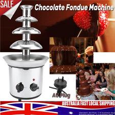 4 Tiers Chocolate Fondue Fountain Machine Waterfall Melting Stainless Steel 2kw