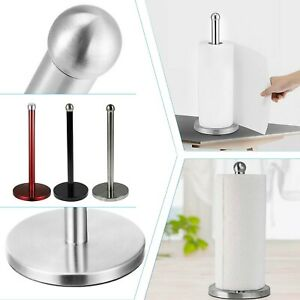 New 3 Colours Free Standing S - Steel Kitchen Roll Holder Paper Towel Pole Stand