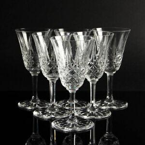 Saint Louis crystal drinking glass white wine TARN Set of 6 mid century vintage