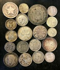 Vintage World Silver Coin Lot - 1902-1965 - 19 Uncommon Silver Coins - Lot #O19