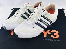 Yohji Yamamoto Adidas Y-3 by Mens 10 LEATHER Sneakers WHITE Low Top Casual SHOES