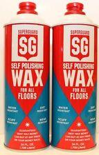 Superguard Self Polishing Wax for ALL Floors 2 pk