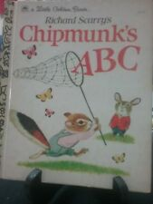 Richard Scarry's CHIPMUNK'S ABC Little Golden Book 1963 VGC