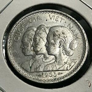 1953 VIETNAM 20 SU ALUMINUM HIGH GRADE COIN