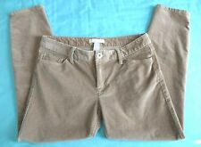 Banana Republic Womens Size 28P Petite Corduroy Stretch Skinny Pants Tan Camel