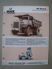 MACK  M 50 AX  Dumper - Muldenkipper  brochure / Prospekt  1974.
