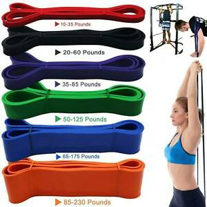 Resistance Bands Tube Exercise Elastic Band Fitness Equipment Yoga Loop Bands-US