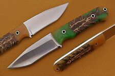 """8"""" Custom Hand forged 1095 Steel Hunting Knife with Pinecone Resin Handle"""