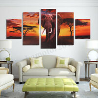 Unframed HD Canvas Prints Home Decor Wall Art Painting Picture-Elephants Best