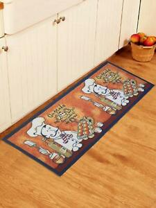 Kitchen Runner Floor Mats with Anti Skid Latex Backing Of 22 x 55 Inches, 1 Pc