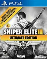 PLAYSTATION 4 PS4 GAME SNIPER ELITE III ULTIMATE EDITION BRAND NEW AND SEALED