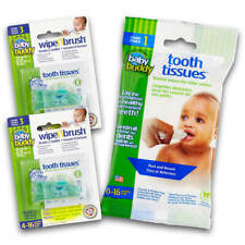 Brilliant Bundle with Tooth Tissues Xylitol Wipes 30 Count Silicone Wipe Brush