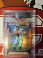 2016 Panini Prizm Dak Prescott rookie ORANGE /299 BGS 9.5 True Gem+ Cowboys RC