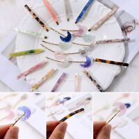 Fashion Women Geometry Triangle Hairpin Barrettes Stone Hair Clips Accessories H