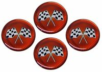 Cross Flag Wheel Emblem Set Corvette and others