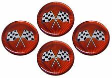 Cross Flag Wheel Emblem Set Corvette and others