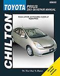 TOYOTA PRIUS SHOP MANUAL SERVICE REPAIR BOOK CHILTON 68650 WORKSHOP