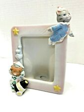 Kitty Cucumber Porcelain Photo Picture Frame Circus Clown Cats Schmid Ginger