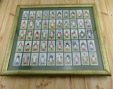 More details for ogden's cigarette cards - jockeys 1930 complete set mounted & framed