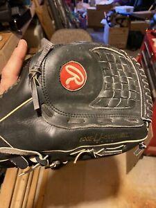 "Rawlings 14 Inch 14"" Supersize Black Softball Baseball Glove - Model RSGXLB"