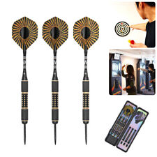 US 26g 3pcs/Set Steel Tip Tungsten Darts, Shafts Flights Barrel + Box Hawk Eye