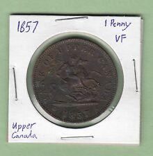 1857 Upper Canada One Penny Token - VF