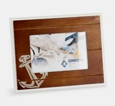 """NEW Concepts 6"""" x 4"""" Wood Finish Photo Frame - Anchor Design"""
