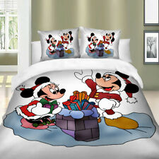 Mickey Mouse White Soft Duvet Cover Set Twin/Full/Queen/King Size Bedding Set