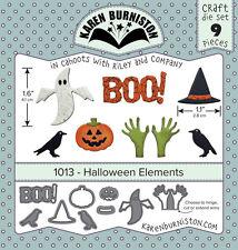 Karen Burniston 1013 - Halloween Elements Craft DIE SET 9 pieces Wafer Thin