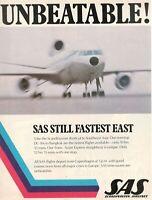 1975 Original Advertising' SAS Scandinavian Airlines System Company Aerial Still