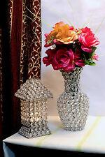 Glass Crystal Flower Vase Pots For Wedding Event Decoration Centrepieces 24CMS