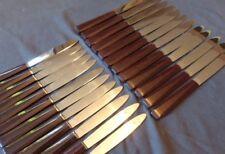 Set 24 couteaux table & dessert anciens BAKELITE antique knives ART DECO 1930