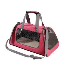 Small Pink Soft Sided Cat Dog Pet Carrier Travel Handbag Tote Shoulder Bag 39