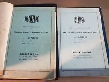 BLOHM SIMPLEX 75 MANUALS £100 + VAT