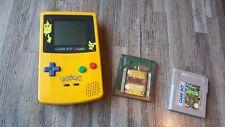 Nintendo Game Boy Color Pikachu Edition Pokemon + 2 Spiele